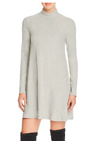 MINKPINK RIBBED MOCK NECK SWING DRESS