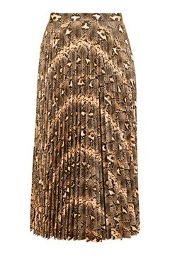 TOPSHOP SNAKESKIN PLEATED SKIRT