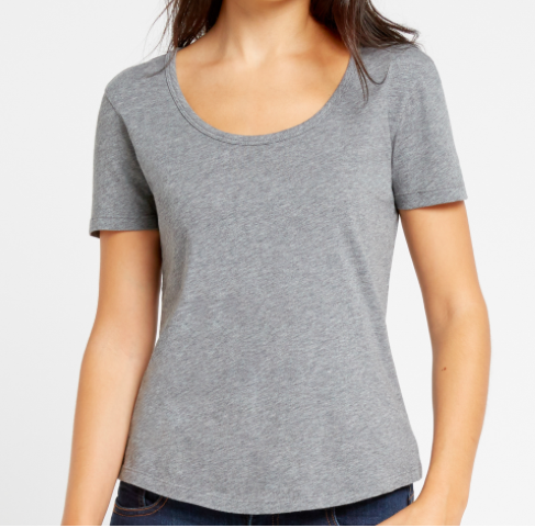 SLATE & STONE 'JADE' SCOOP NECK TEE SHIRT