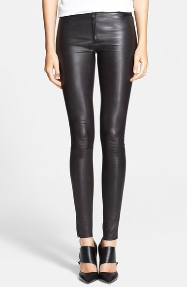 ALICE & OLIVIA LEATHER LEGGINGS