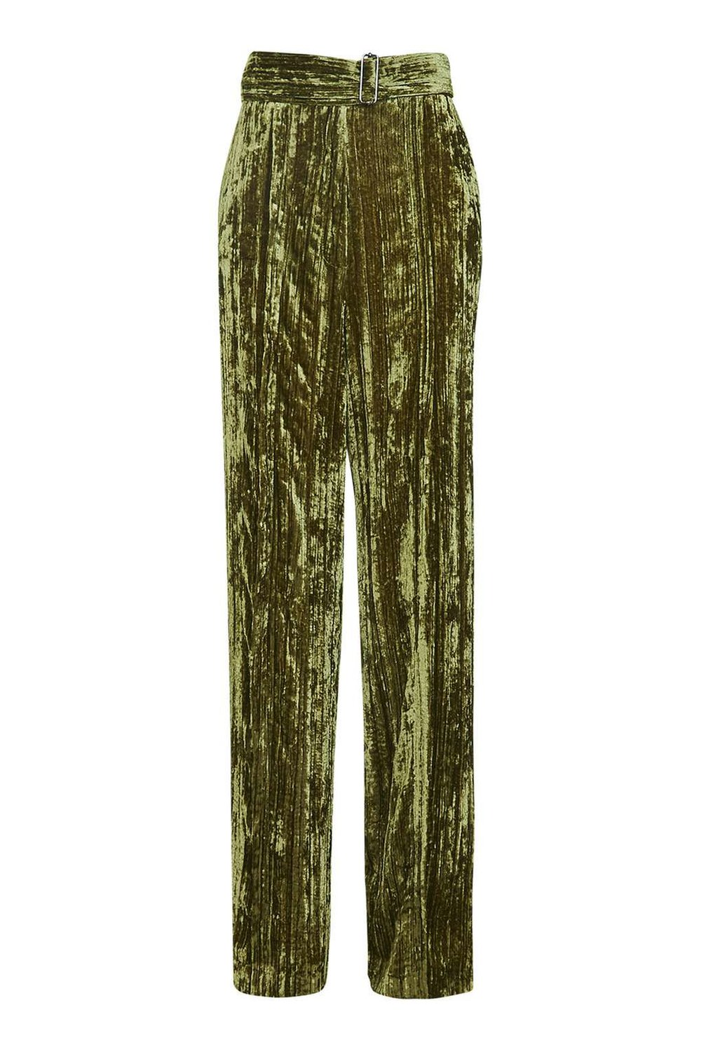 TOPSHOP VELVET GREEN PANTS
