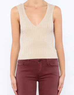 TAUPE CROPPED TANK