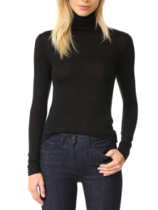 CLUB MONACO BLACK 'JULIE'  TURTLENECK