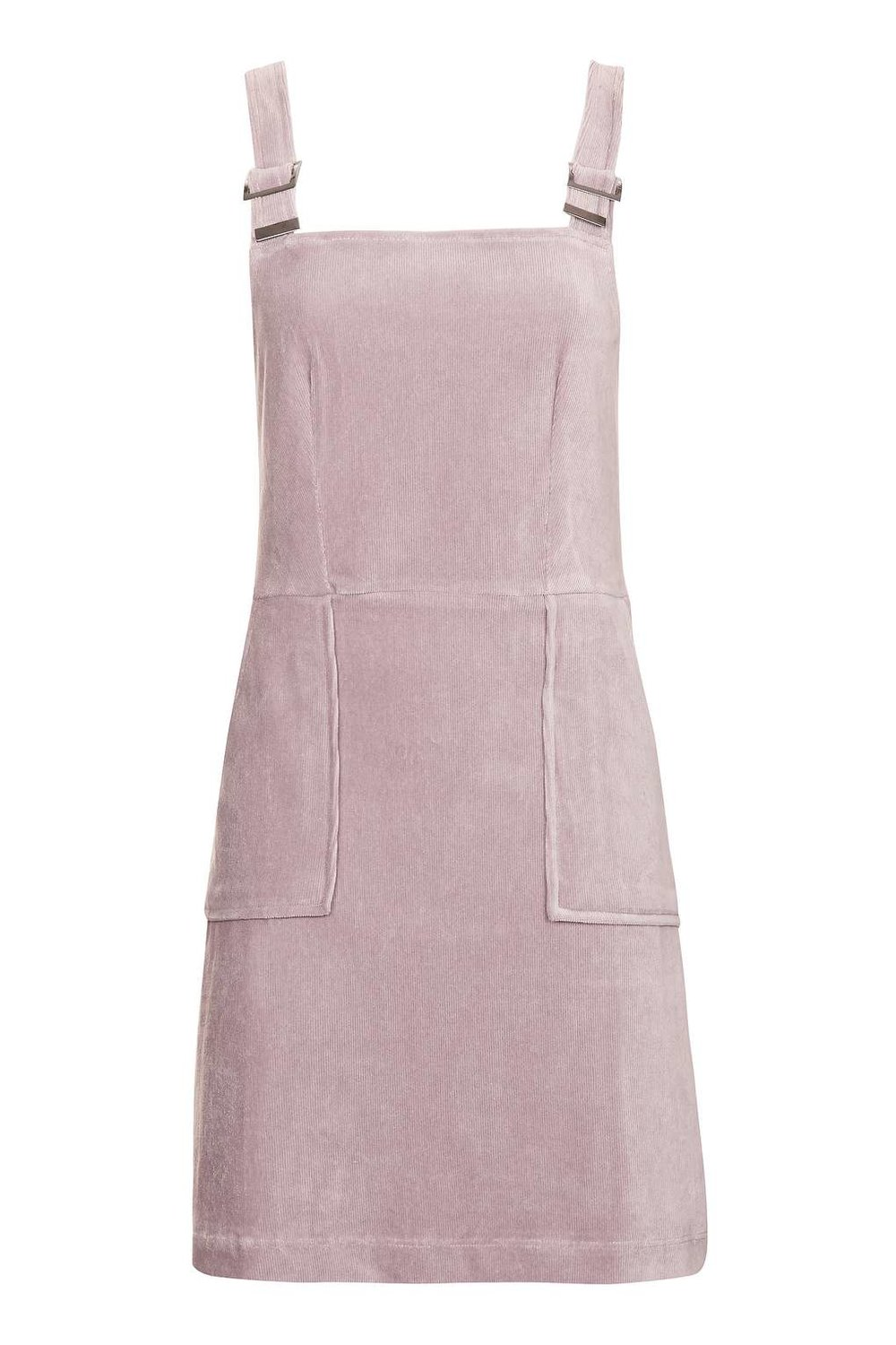 TOPSHOP CORD VELVET PINAFORE DRESS
