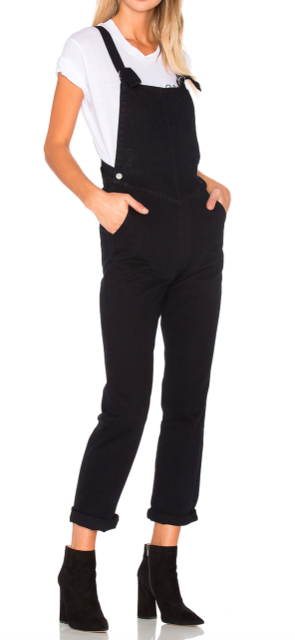 ROLLA'S BLACK BAGGY OVERALLS