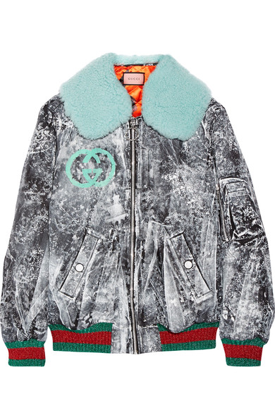 GUCCI PAINTED BOMBER JACKET