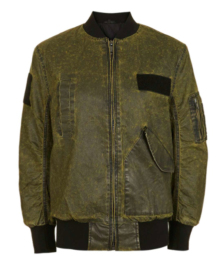 TOPSHOP WAX BOMBER JACKET