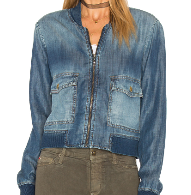 BELLA DAHL DENIM BOMBER JACKET