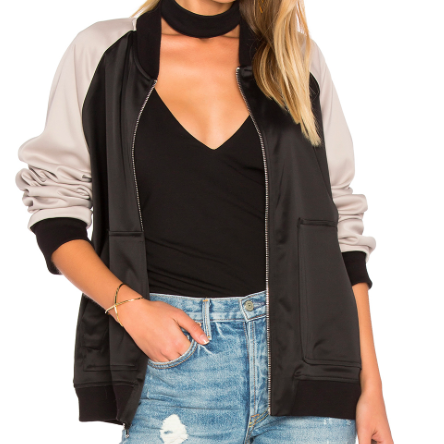 MONROW COLORBLOCK BOMBER JACKET