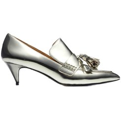 COACH METALLIC TASSEL LOAFERS