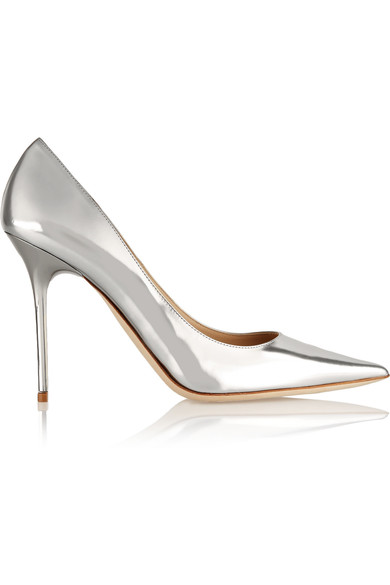 JIMMY CHOO METALLIC PUMPS