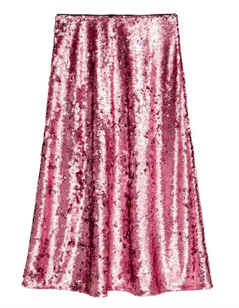 H&M PINK SEQUIN SKIRT