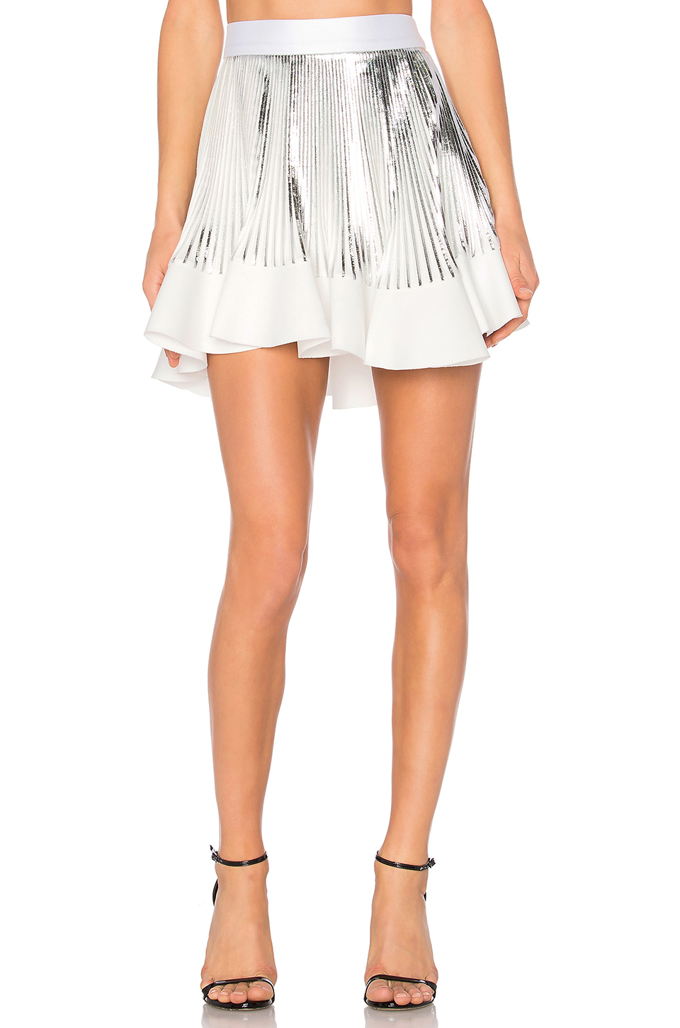 BY JOHNNY PLEAT FLUTE MINI SKIRT