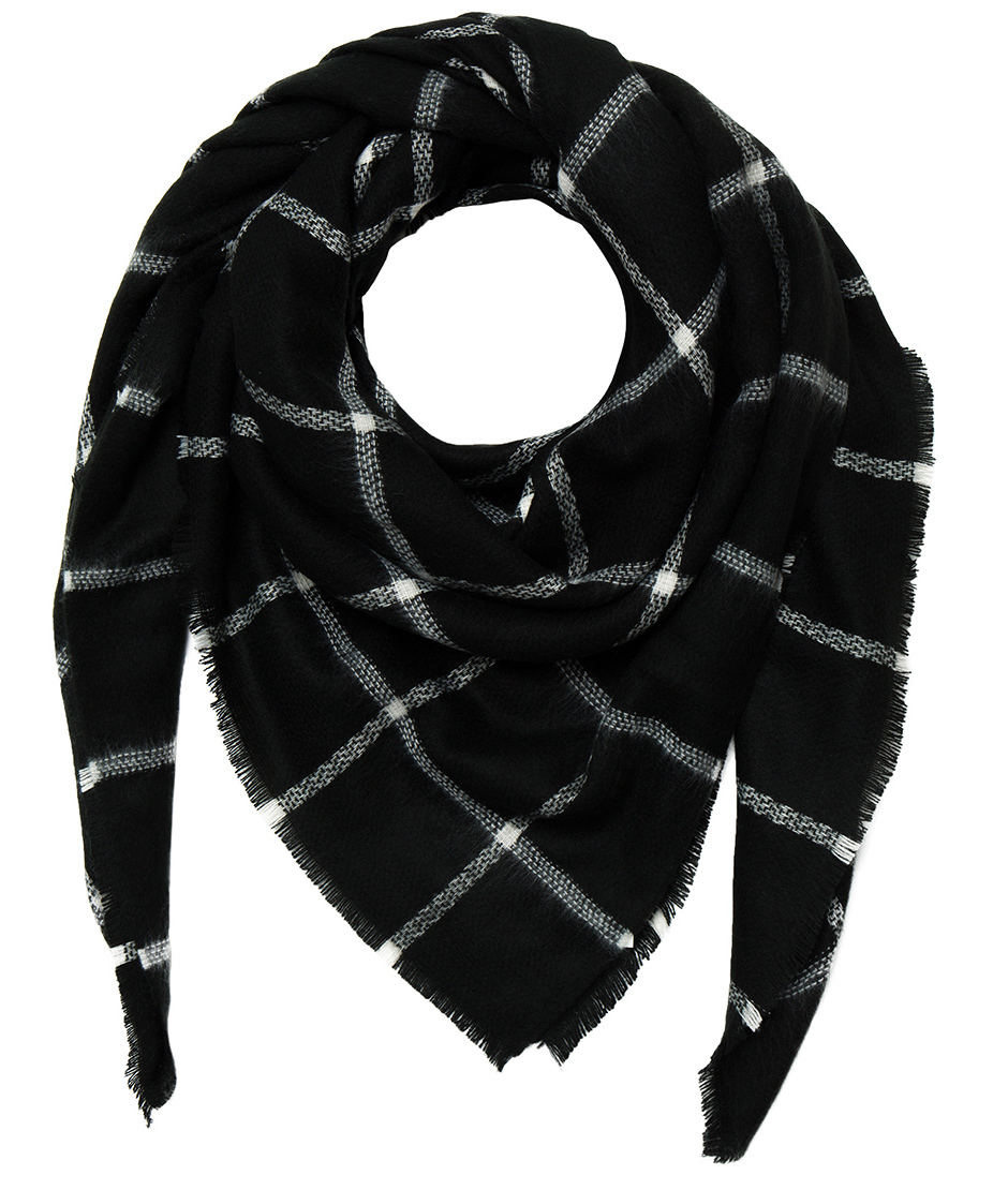 HAT ATTACK PLAID BLANKET SCARF