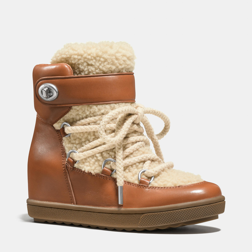 COACH 'MONROE' SHEARLING BOOTIES