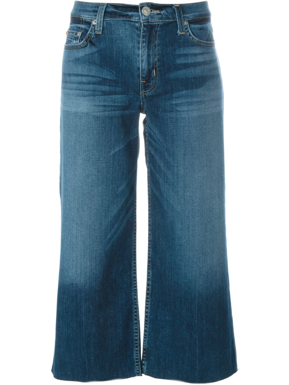HUDSON WIDE LEG CROPPED JEANS