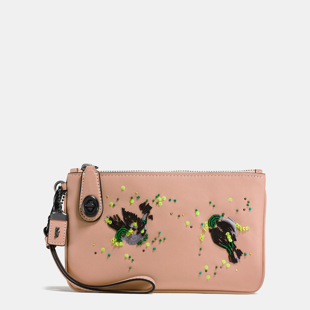 COACH MEADOWLARK TURNLOCK WRISTLET