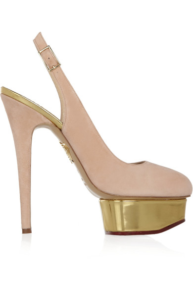 CHARLOTTE OLYMPIA 'THE DOLLY' SUEDE PUMPS