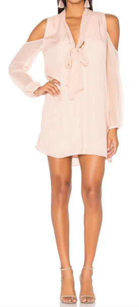 HAUTE HIPPIE 'VIDA' COLD SHOULDER DRESS