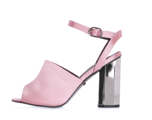 TOPSHOP 'REGINA' SATIN HEELED SANDALS