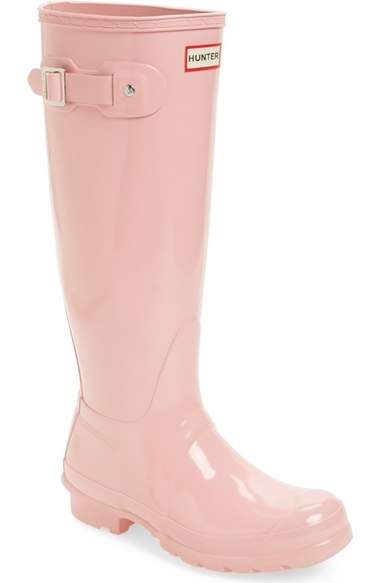 HUNTER LIGHT PINK RAIN BOOTS