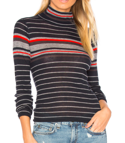 RAG & BONE STRIPED TURTLENECK