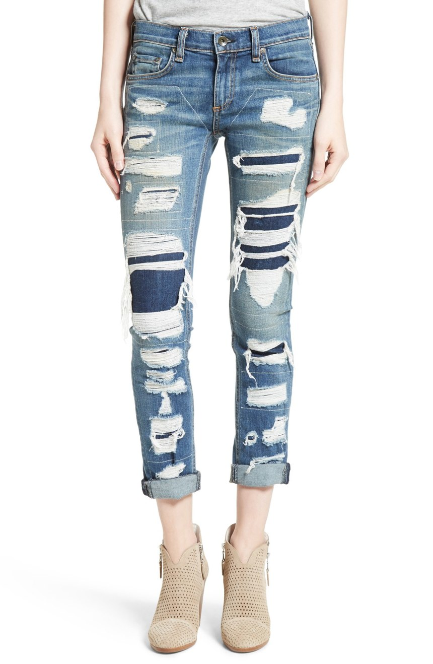 RAG & BONE 'THE DRE' SLIM BOYFREIND JEANS