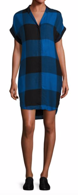 RAG & BONE 'COOPER' PLAID BUFFALO SHIRTDRESS