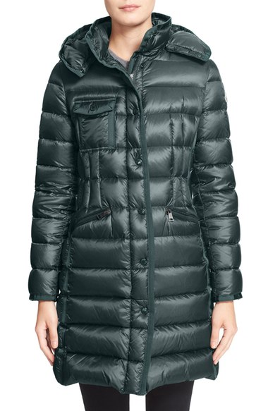 MONCLER 'HERMINE' TRIM DOWN COAT