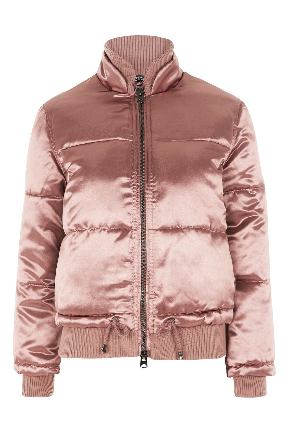 TOPSHOP QUILTED PINK PUFFER JACKET