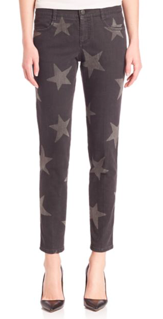 STELLA MCCARTNEY STAR PRINT ANKLE JEANS