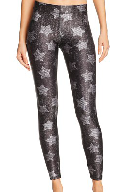 TEREZ DENIM STAR PRINTED LEGGINGS