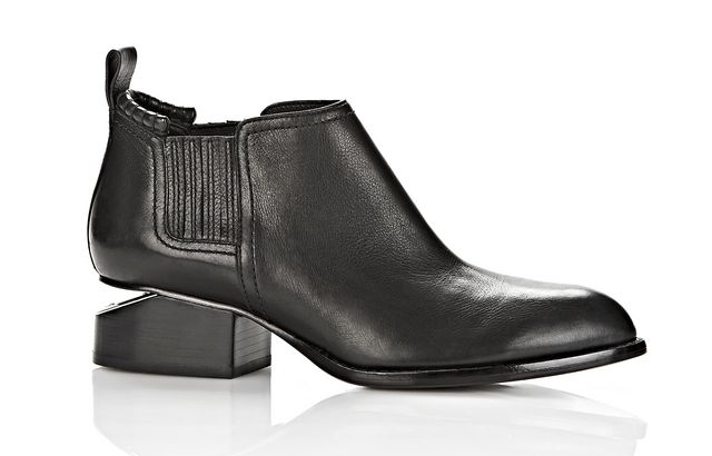 ALEXANDER WANG 'KORI' BLACK KNOCK HEEL BOOTIES