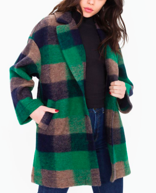 AMERICAN APPAREL GREEN WOOL COAT