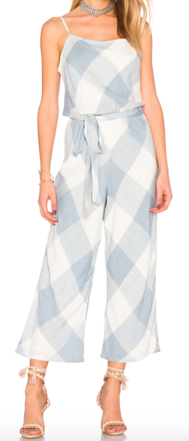 TULAROSA 'LLOYD' PLAID JUMPSUIT