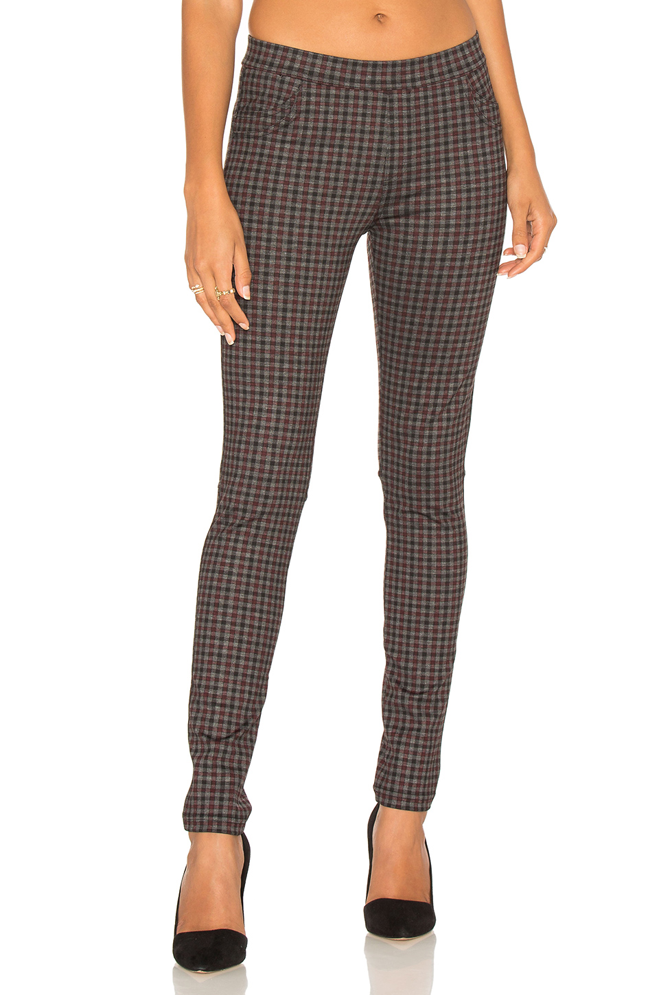 SANCTUARY 'GREASE' PLAID LEGGINGS