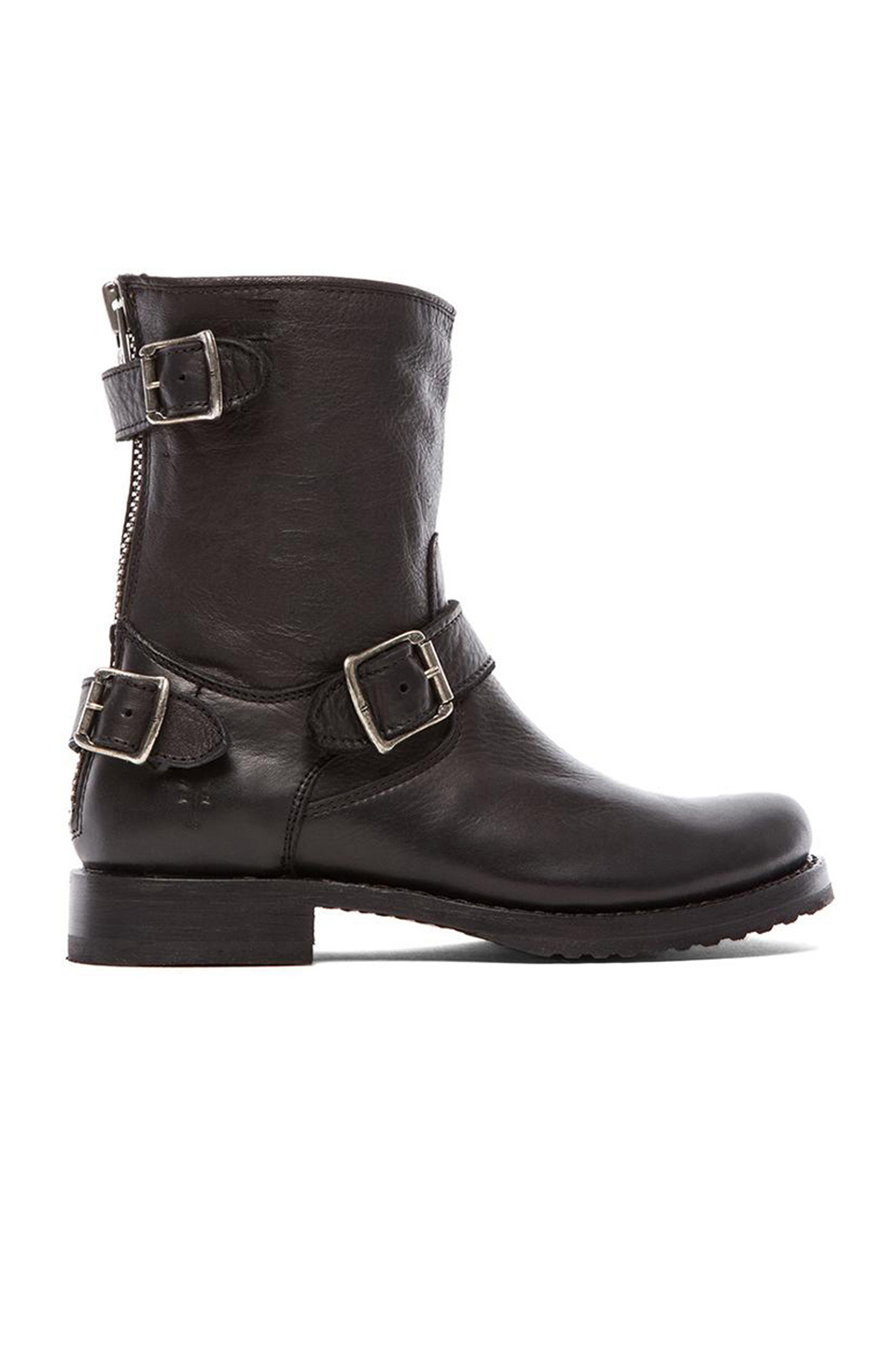 FRYE 'VERONICA' BACK ZIP BLACK BOOTS