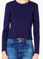 MANGO NAVY BLUE SWEATER