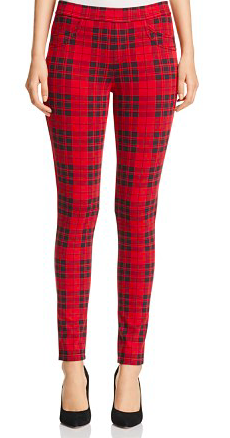 SANCTUARY RED PLAID LEGGINGS