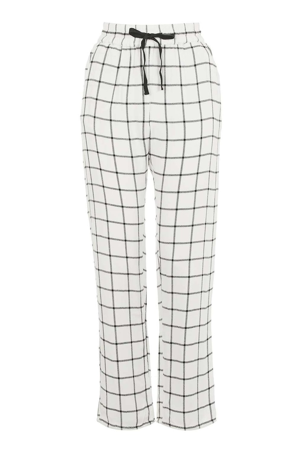 TOPSHOP PLAID CHECK PAJAMA TROUSERS