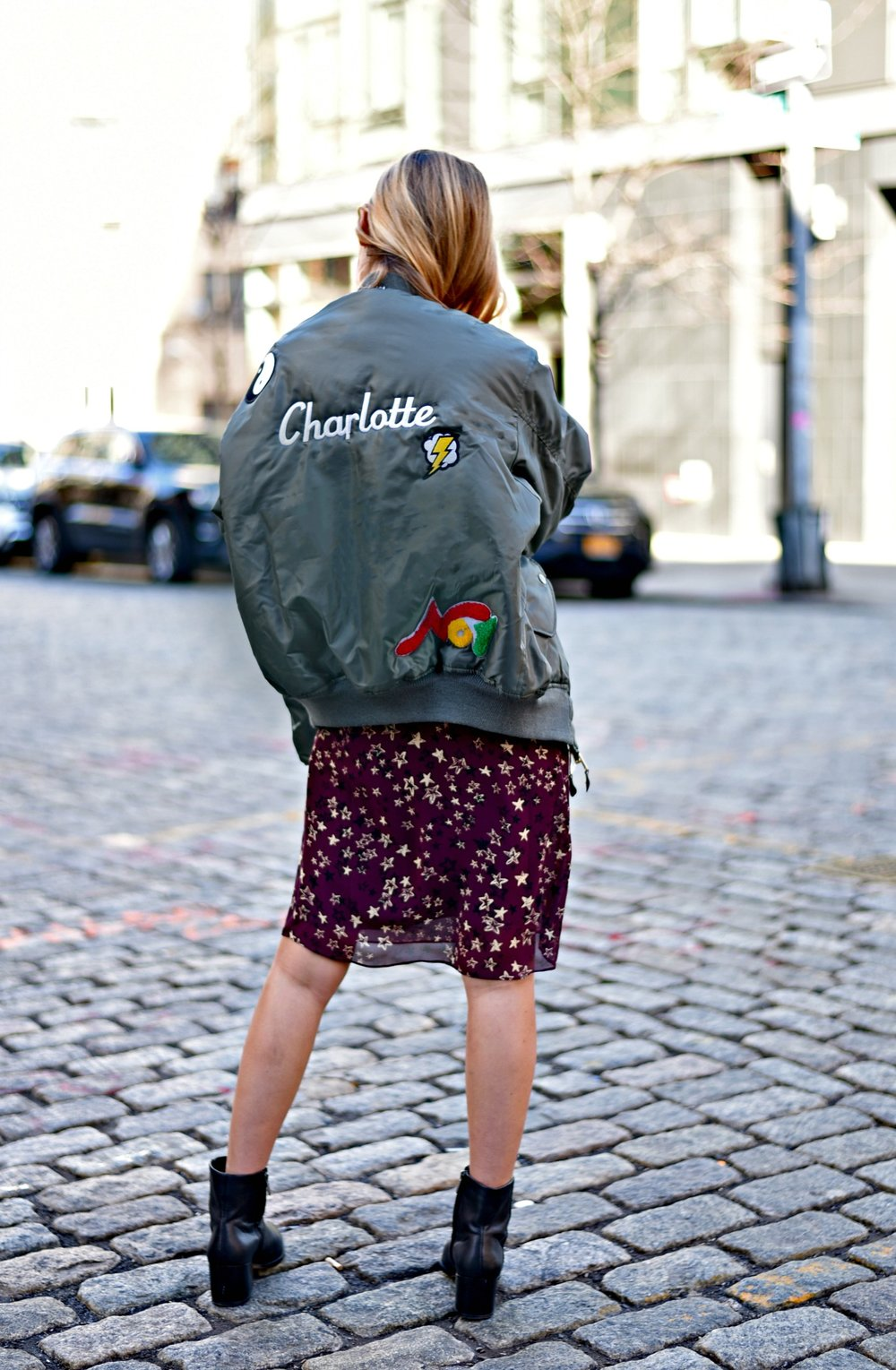 CHARLOTTE BICKLEY YIN 2MY YANG SISTER FASHION BLOGGERS NYC UNEMPLOYED DENIM PERSONALIZED BOMBER JACKET POST 3.jpg