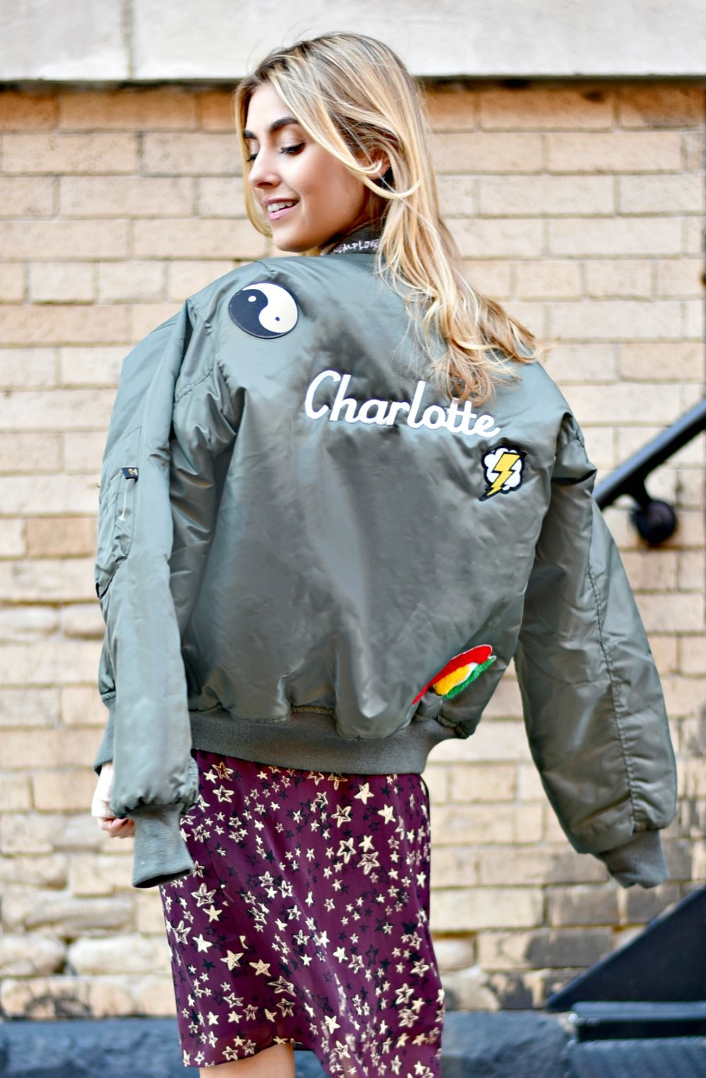 CHARLOTTE BICKLEY YIN 2MY YANG SISTER FASHION BLOGGERS NYC UNEMPLOYED DENIM PERSONALIZED BOMBER JACKET POST 5.jpg