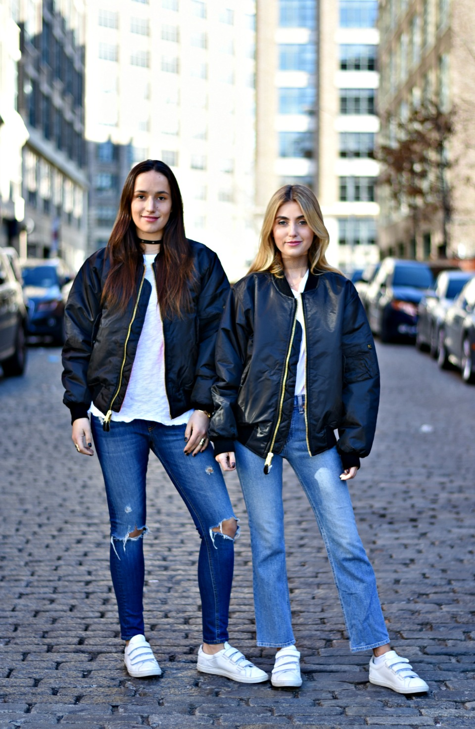 SOPHIE & CHARLOTTE BICKLEY YIN 2MY YANG SISTER FASHION BLOGGERS NYC UNEMPLOYED DENIM POST 1.jpg