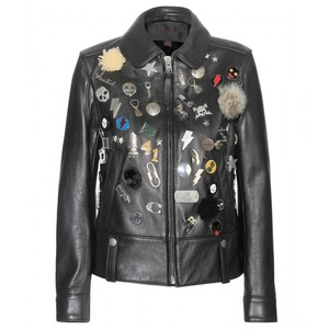 COACH PIN LEATHER JACKET