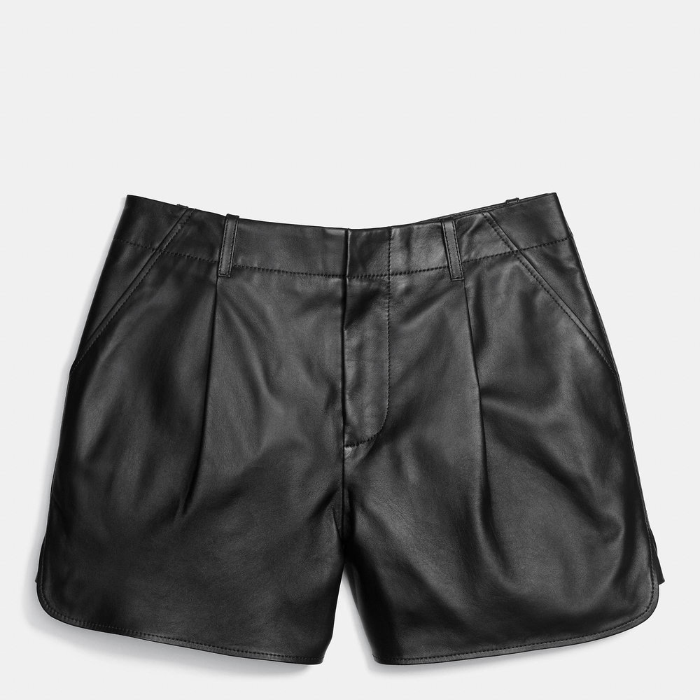 COACH LEATHER SHORTS