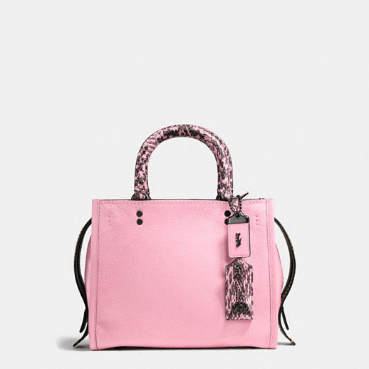 COACH ROGUE 25 LIGHT PINK BAG WITH SNAKE