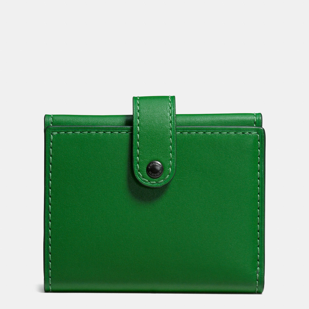 COACH SMALL GREEN TRIFOLD WALLET