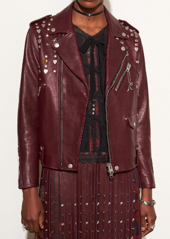 COACH ICON MOTO JACKET WITH BEATNIK RIVETS