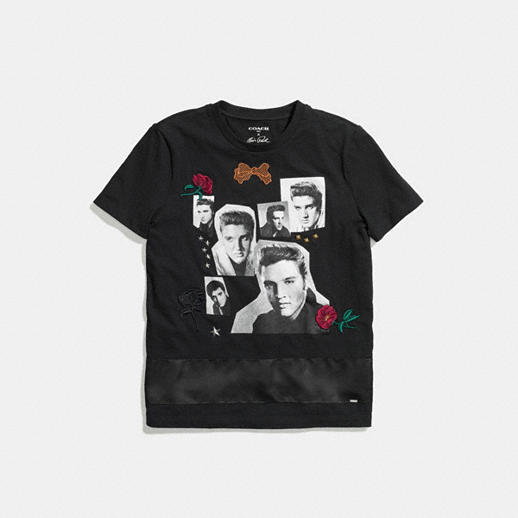 COACH ELVIS COLLAGE TEE