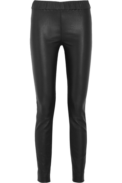 J.CREW BLACK LEATHER LEGGINGS